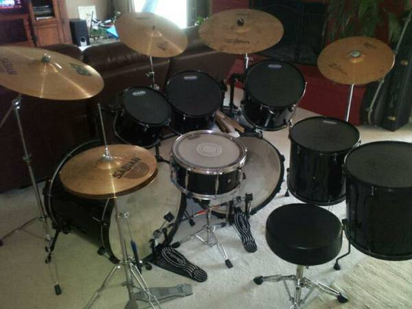 8 piece Pearl Limited Edition double bass drum set - $2000 (San Angelo)
