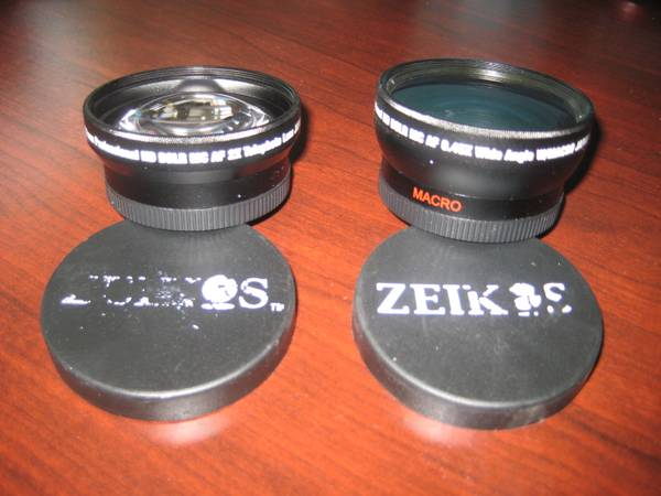 2pc Zeikos 58mm Professional HD DSLR MC AF Telephoto Lens Japan Optics - $49 (Onion Creek)