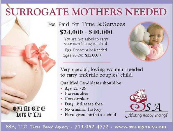 Loving Surrogate Mothers Needed (Texas)