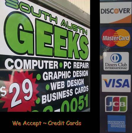 SOUTH AUSTIN GEEKS Stop By and Say Hi - PC, LAPTOP, COMPUTER REPAIRS (South Austin)