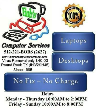 HONEST AFFORDABLE COMPUTER SERVICES FLAT RATE (Round Rock)