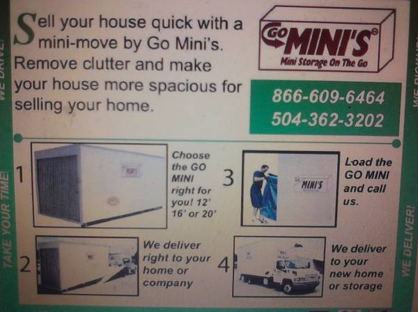 GO MINIS let us help u move (san antonio )