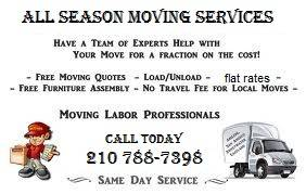 CHECK OUT THIS GREAT DEALS ON YOUR MOVE FOR FLAT RATES 9742 (SAN ANTONIO AREAS WE TRAVEL)