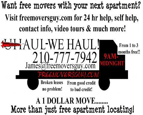 Free apartment locating Fast and friendly service Free Movers w any apartment or gift card rebate