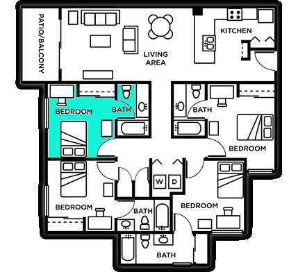 $475 the outpost 4b4br take over lease.. female or male (utsa)