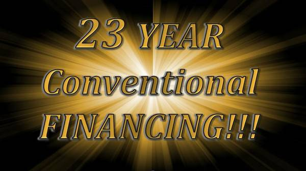 NEW 23 YEAR CONVENTIONAL FINANCING FOR MANUFACTURED HOMES