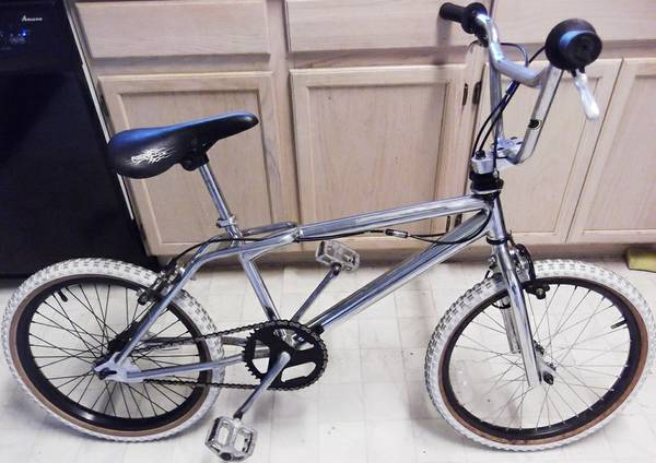 1994 Dyno (GT) chrome BMX bike, Odyssey Gyro 360 brakes, 20 in wheels - x0024195 (Nacogdoches Higgins Stahl Rd)