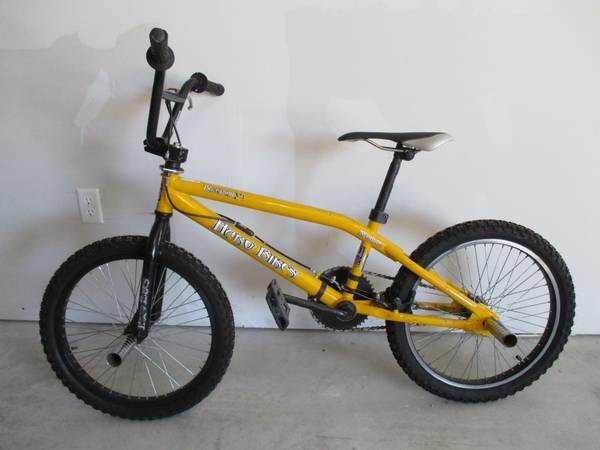 Yellow Haro Backtrail X1 Nyquist BMX Freestyle Bike 20 - $125 (Converse)