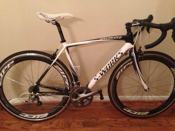 2010 S-Works Specialized Tarmac - 54cm with Zipp 404 Clinchers - $3700 (Houston)