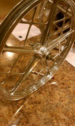 MONGOOSE MOTOMAG VINTAGE WHEEL SET(POLISHED) - $280 (SAN ANTONIO)