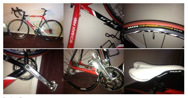 Fuji Roubaix Pro Bike with Cateye Astrale 8 bike comp and SPD pedals - $550 (1604 and Oconnor)