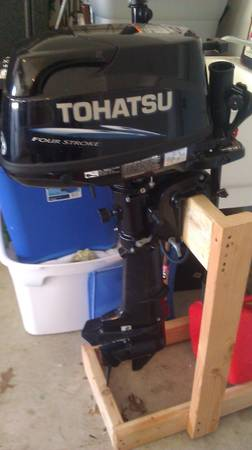 5hp Tohatsu 4 Stroke outboard motor like new (San Antonio)