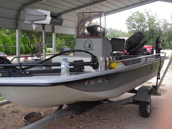 1996 Bayhawk 16 Shallows boat - $2500 (New Braunfels)