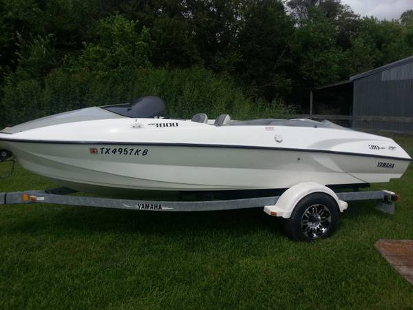 Yamaha XR1800 Twin engine jet boat 310 hp tubing skiing fast fun - $7000 (Houston)