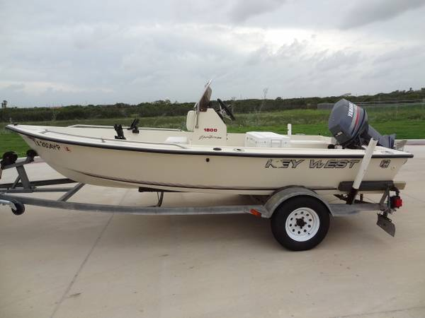 Key West 1500 with Yamaha 60 motor NICE - $5900 (Corpus Christi, TX)