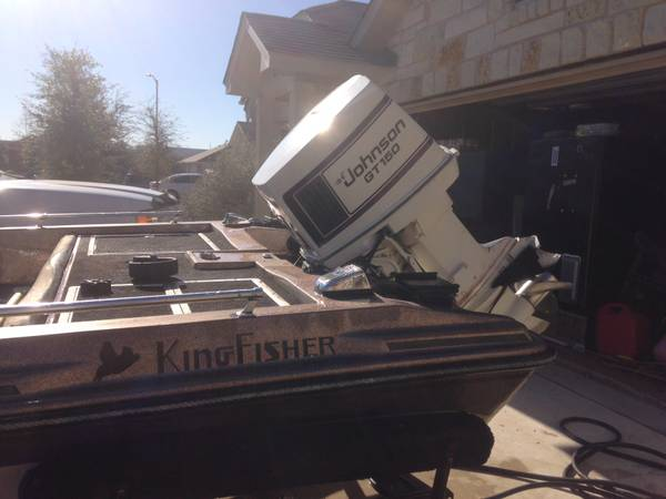 17 Kingfisher Bass Boat - 150 hp Johnson - Lake Ready - Make offer - x00243250 (New Braunfels, TX)