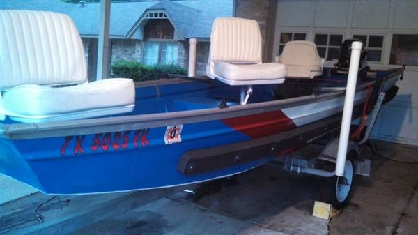 14 foot Jon Boat with 3 seats and trailer - $899 (San Antonio)