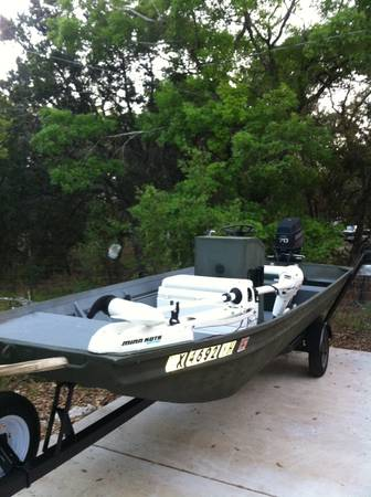 16ft center console aluminum boat - $5500 (spring branch)
