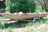 16 foot flat bottom Jon boat - $1 (sa)