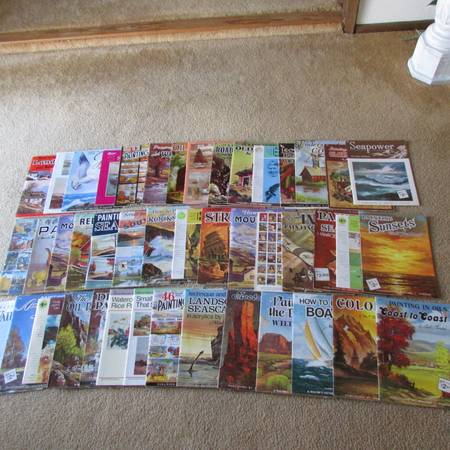 HUGE LOT OF WALTER FOSTER ART MAGAZINES ON HOW TO PAINT IN OILS -   x0024 3  NE WINDCREST