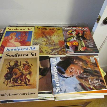 HUNDREDS OF SOUTHWEST ART MAGAZINE  NE WINDCREST
