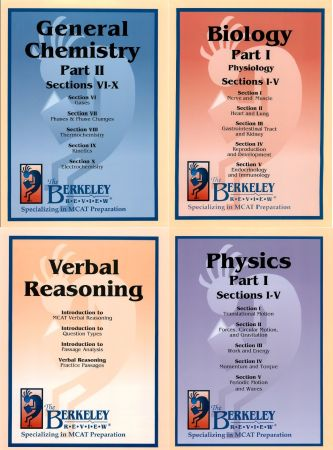 Berkeley Review MCAT Books Princeton Review 2012 Tests 1-9CBT EK101 VR - $60