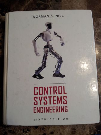 Norman S. Nise Control Systems Engineering 6th Edition - $115 (1604 and Potranco)