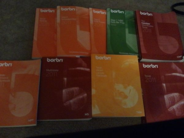 Set of 2011 Barbri Books  - $275 (Med Center)