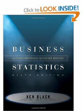 Statistics for Business MS1023  3043 sixth edition ken black - $150 (Stoneoak )