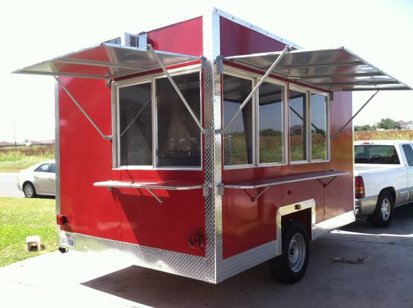 14 ft red concession trailer food trailer - $13000