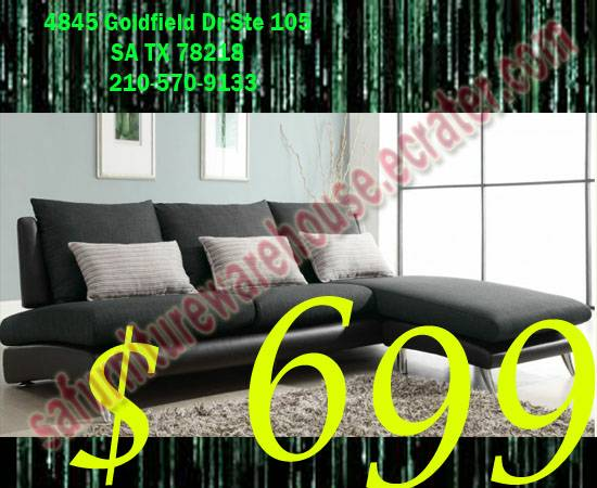 Elegant Sectional Only  - $699 (San Antonio)