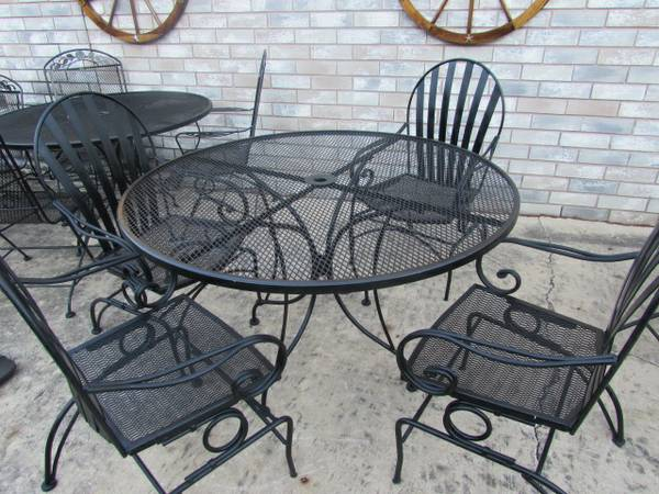 Wrought Iron chairs and table - $250 (south sa)
