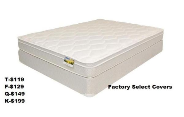 10173 Queen Firm Euro Pillowtop mattress set still in plastic with factory 15 - $250 ( MATTREESS SALE)