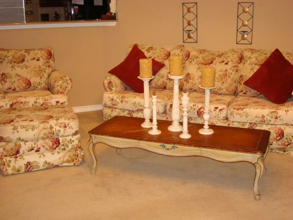 LOVELY shabby CHIC sofa-COUCH set ((reduced)s.a.)