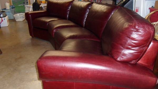 Burgandy Leather Sectional - By Star furniture - $1200 (NE)