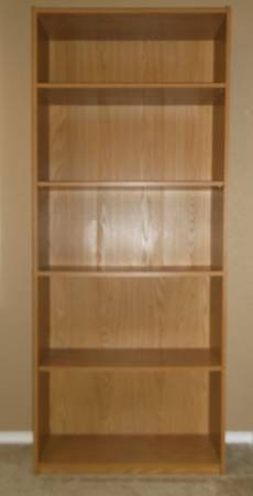 Tall Bookcase Shelving Unit - $25 (NC - 281 Stone Oak TPC)