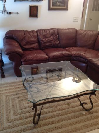 star furniture signature leather sectional - $800 (medina lake. )