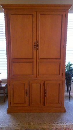 Entertainment Armoire, Solid Oak - $200 (I-10Huebner)