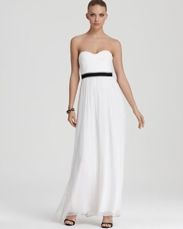 BCBG White Strapless Evening Gown - $50 (Helotes)