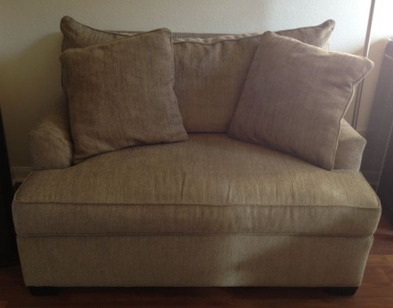Ethan Allen chairsleeper (pair) and ottoman - $2000 (NW)