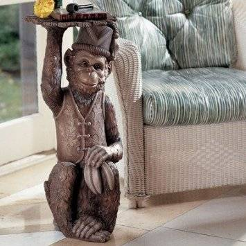 Toscano moroccan monkey butler sculptural end table  - $100 (se san antonio)