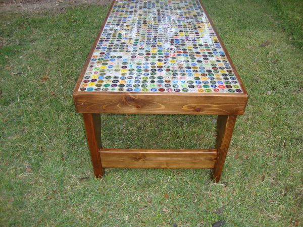 Bottle caps Coffee Table BEER Coors Light Bud Light College - $250 (NE SA)
