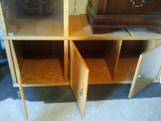 Oak Express entertainment center - $400 (SS)