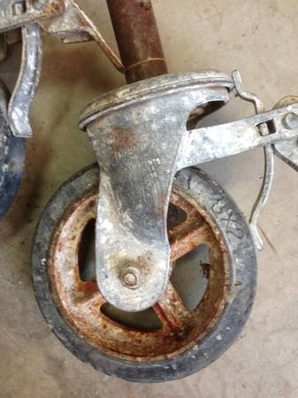 4 Fairbanks Scaffold Casters -- 8 in with brakes - $59 (Schertz Natural Bridge Caverns Rd)