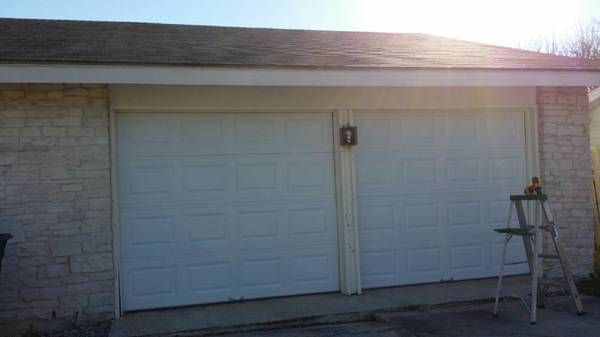 16x7 garage door $450.00 installed new white or almond all new parts (anywhere)