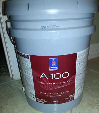 10 gallons of unmixed sherwin williams A100 exterior latex paint - $160 (san marcos)