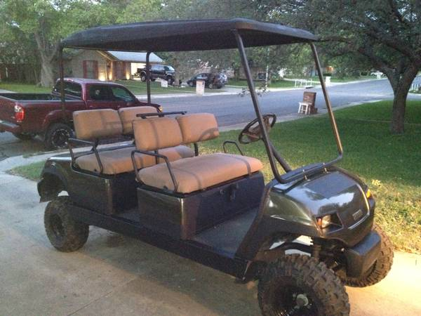 Yamaha 4 Seater Gas golf cart,  Jakes 6 lift, King Ranch colors Look - $4900 (281Bitters)