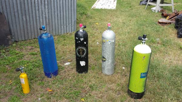 Scuba Air Tanks (several available) - $100 (Zipp Road New Braunfels)