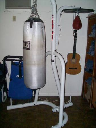 punching bag  speed bag  stand platform combo $200 (NE San Antonio)