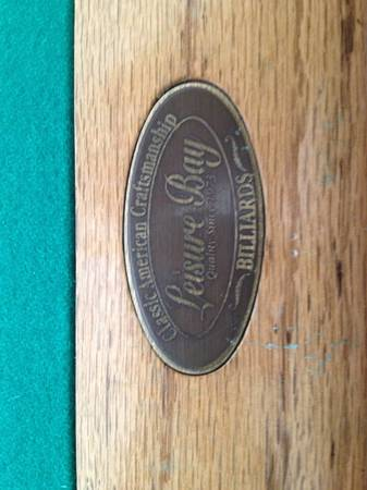 CLASSIC AMERICAN CRAFTMANSHIP BILLIARDS POOL TABLE - $300 (SAN ANTONIO, TX)